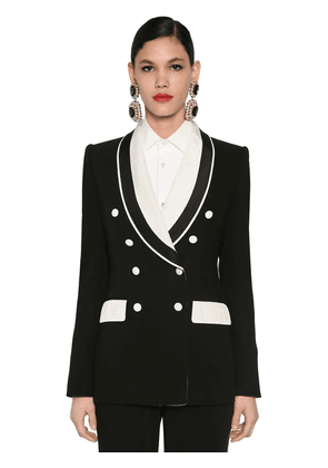 Bicolor Tailored Cady Stretch Jacket
