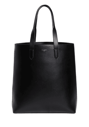 Leather Tote  W/ Logo Detail