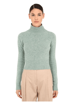 Cropped Wool Knit Sweater