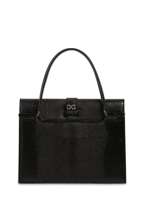 Ingrid Iguana Embossed Leather Bag