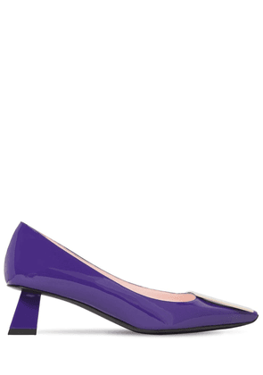 45mm Trompettine Patent Leather Pumps