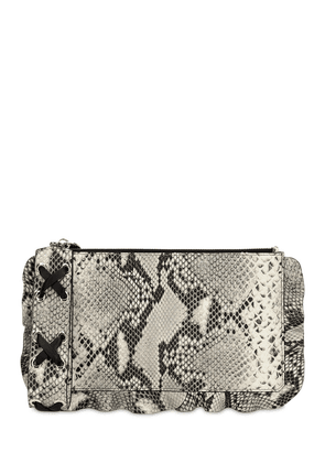 Python Printed Leather Pouch