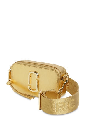Snapshot Metallic Leather Shoulder Bag