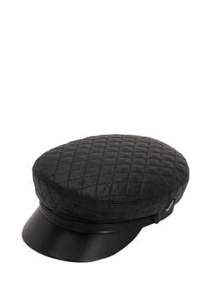 Leather & Quilted Nylon Sailor Hat