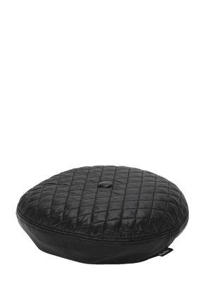 Leather & Quilted Nylon Basco Hat