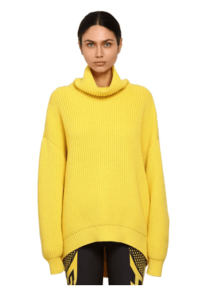 Oversize Wool Rib Knit Sweater
