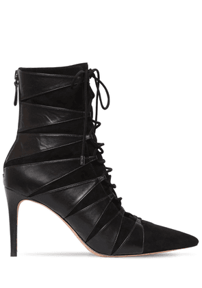 85mm Becca Leather & Suede Ankle Boots
