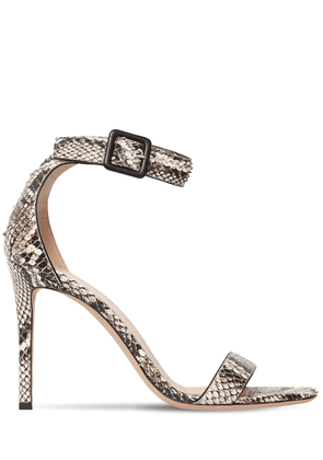 105mm Snake Print Leather Sandals