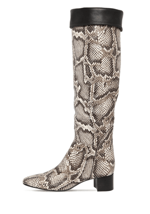 45mm Snake Print Leather Boots