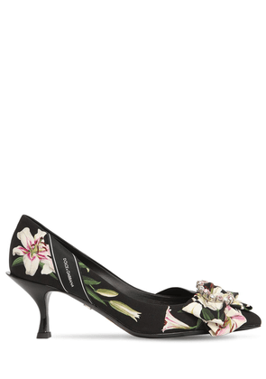 60mm Lory Flower Print Cady Pumps