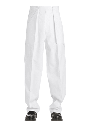 Wide Work Wear Heavy Cotton Canvas Pants