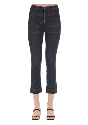 Scarlet Zipped Cotton Denim Jeans