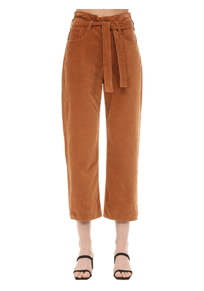 Kelly Paper Bag Cotton Velvet Pants
