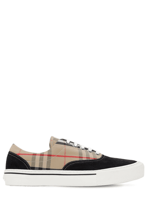 Wilson Checked Leather Sneakers
