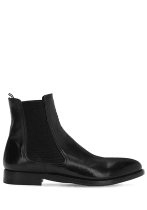 30mm Horse Leather Chelsea Boots