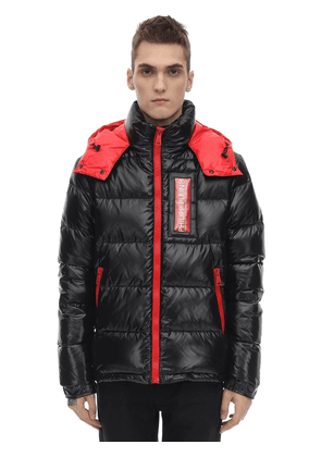 Embroidered Nylon Down Jacket