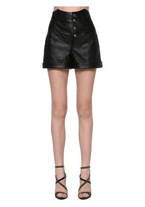 Western Waist Leather Shorts