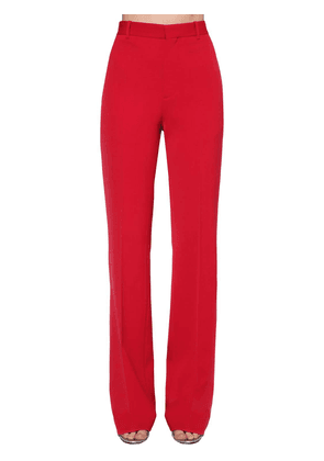 Wide Wool Stretch Twill Pants