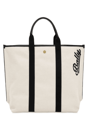 Logo Embroidered Canvas Tote