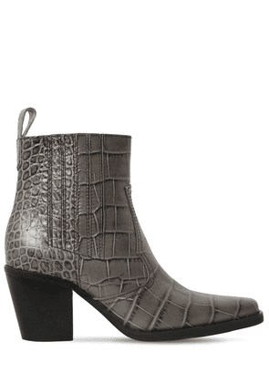 70mm Western Embossed Croc Leather Boots