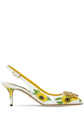 60mm Sunflower Leather Slingbacks