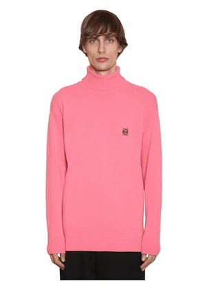 Embroidered Anagram Wool Knit Sweater
