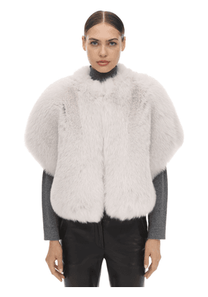 Short Sleeves Shadow Fur Jacket