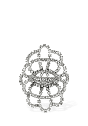 Tennis Statement Crystal Ring