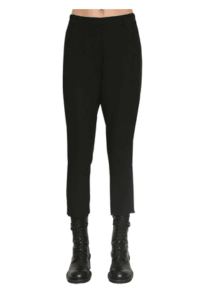 Cropped Wool Canvas Pants