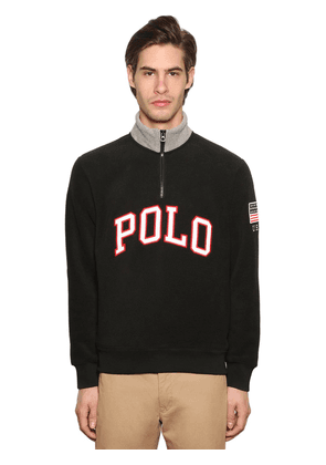 Logo Zip-up Techno Sweatshirt
