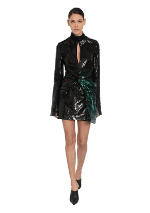 Sequined Techno Mini Dress