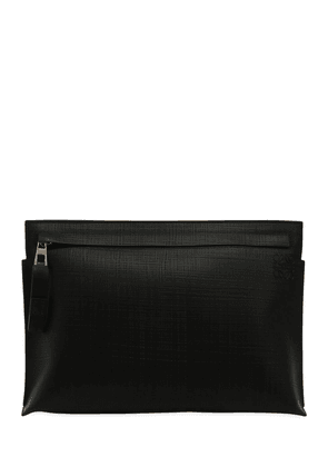 Textured Leather Pouch