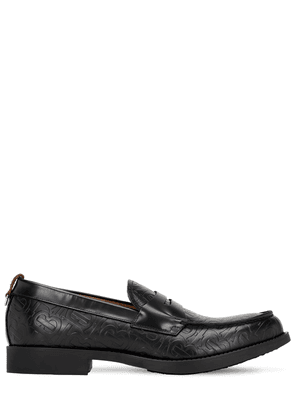 Emile Tb Embossed Leather Loafers