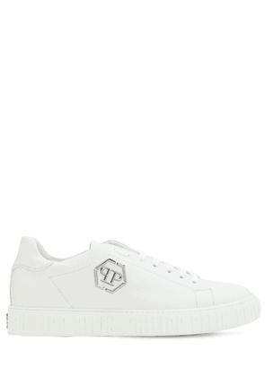 Low-top Logo Leather Sneakers