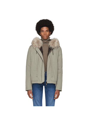 Yves Salomon Cotton Parka With Rabbit In Army | Parka, Army