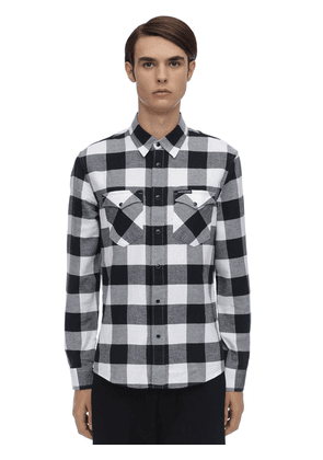 Check Cotton Flannel Western Shirt