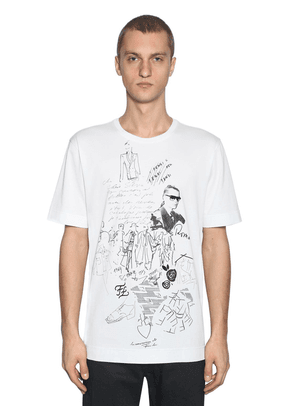Karl Printed Cotton Jersey T-shirt
