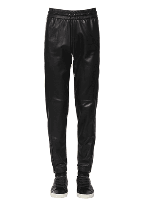 Nappa Leather Track Pants