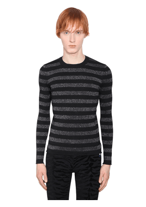 Striped Lurex Wool Sweater