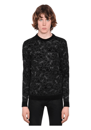 Radio Viscose Blend Jacquard Sweater