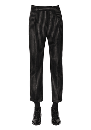 Cropped Wool Lurex Trousers