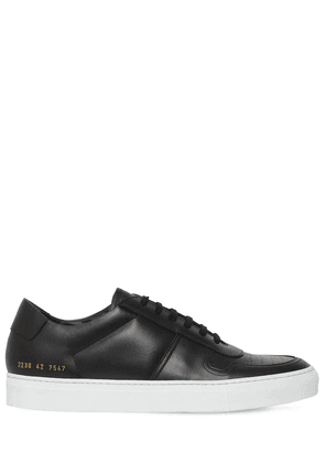 Leather Sneakers W/perforated Details