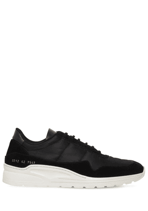 Cross Trainer Leather & Nylon Sneakers