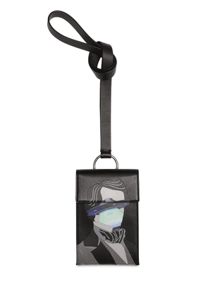 Vu Printed Leather Neck Pouch