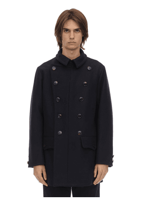 Double Breasted Virgin Wool Peacoat