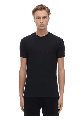 Giorgio's Logo Stretch Viscose T-shirt