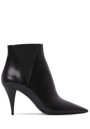 85mm Kiki Leather Ankle Boots