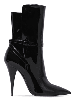 110mm Kiki Patent Leather Ankle Boots