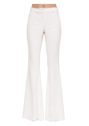 High Waist Stretch Cady Flared Pant