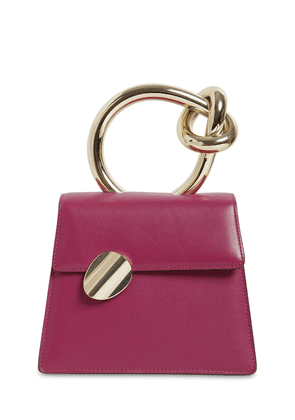 Brigitta Small Leather Top Handle Bag